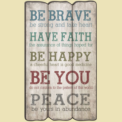 Be Brave…Fence Post Art