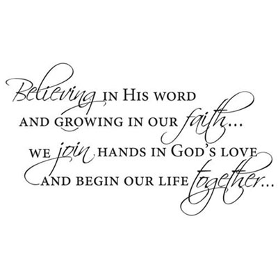 Believing in His Word... Vinyl Wall Decor