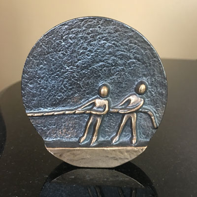 Pulling Together Bronze Plaque LARGE