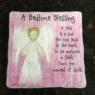 A Child Is a Soul the Lord Lends to Earth - Pink Plaque