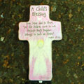 "Jesus Said to Them ""Let the Children…"" Pink Cross"