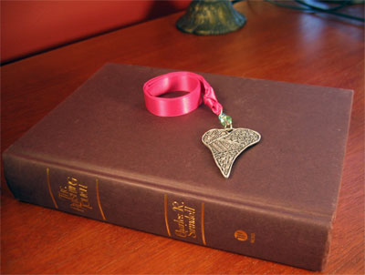 Pewter 'Folk Heart' Bookmark by Cynthia Webb LARGE