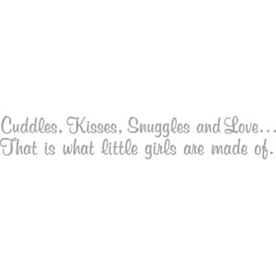Cuddles, Kisses, Snuggles... Inspirational Wall Vinyl