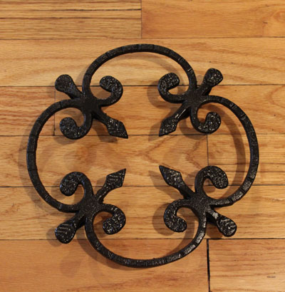 Wrought Iron Trivet LARGE