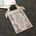 """Cherish the Moments"" Pewter Wall Ornament by Cynthia Webb THUMBNAIL"