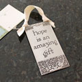 """Hope is an Amazing Gift"" Pewter Wall Ornament by Cynthia Webb THUMBNAIL"