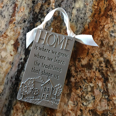 Home is Where We Grow Pewter Wall Ornament LARGE