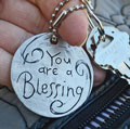 You are a Blessing Pewter Key Chain