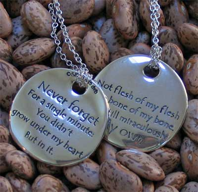 The Adoption Poem Touchstone Necklace LARGE