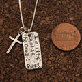 Alpha and Omega Sterling Silver Necklace Mini-Thumbnail
