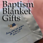 Personalized Baby Baptism Blankets