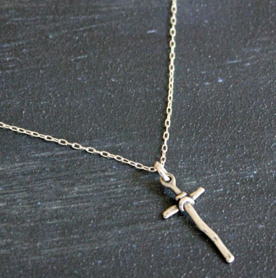 Beckon Me... Sterling Silver Cross Necklace LARGE