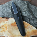 Letter Opener in Leather Pouch - Black