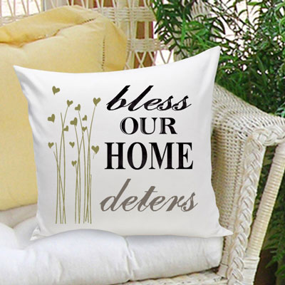 Bless Our Home Personalized Pillow LARGE