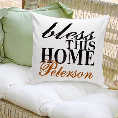 Bless This Home Personalized Pillow LARGE
