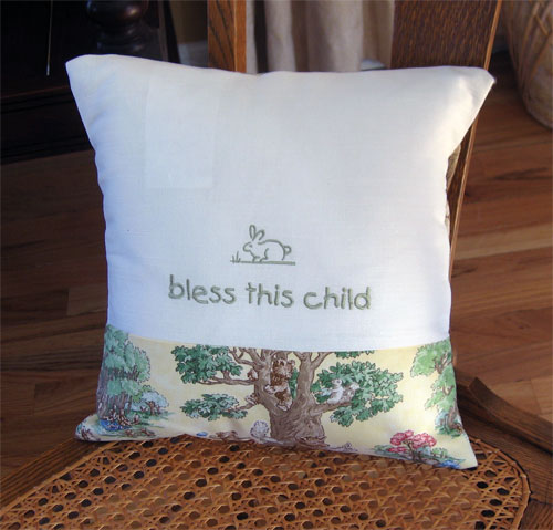 Bless This Child Pillow LARGE
