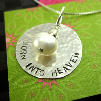Born into Heaven Necklace in Sterling LARGE