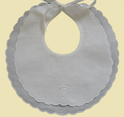 Scalloped Edge Baby Bib LARGE