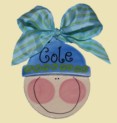 Baby Boy Personalized Christmas Ornament LARGE