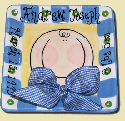 Personalized Baby Boy Tile LARGE