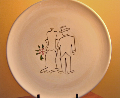 Bride & Groom Signature Platter & Pen LARGE