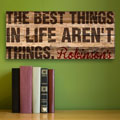 The Best Things in Life Personalized Canvas