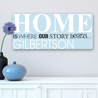 Our Story Begins... Personalized Canvas LARGE