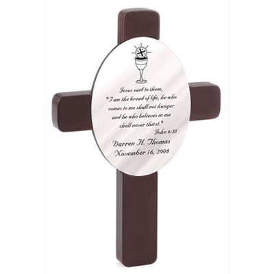 Personalized First Holy Communion Wall Cross LARGE