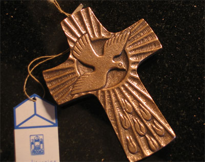 Holy Spirit Bronze Cross LARGE