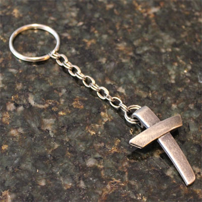 Single Cross Key Chain