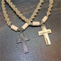Macrame Choker with Cross