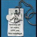 Custom Scripture Dog Tag Key Chain