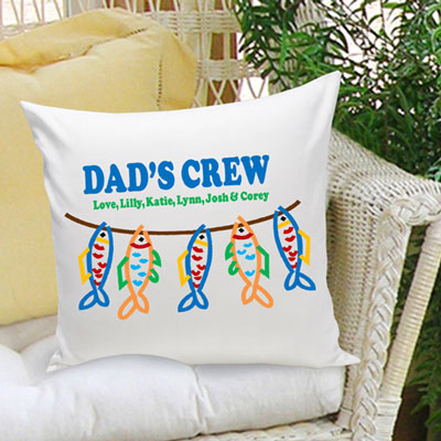 Dad's Crew... Personalized Pillow