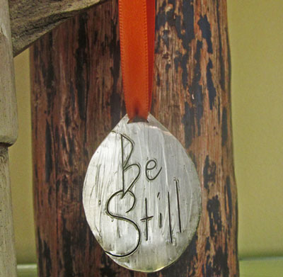 Be Still... Pewter Ornament_LARGE