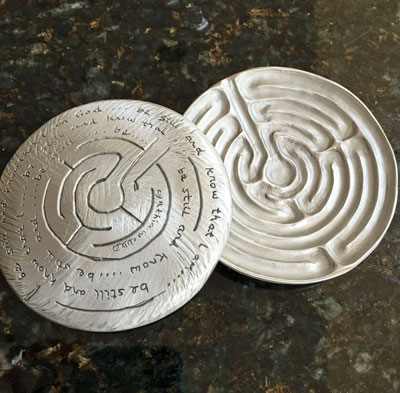 Labyrinth Dish by Cynthia Webb - Be Still and Know that I am God