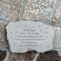 Each night when I am lonely… Garden Accent Stone_THUMBNAIL