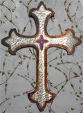 "12"" Fleur de Lys Cross - Handcrafted of Steel"