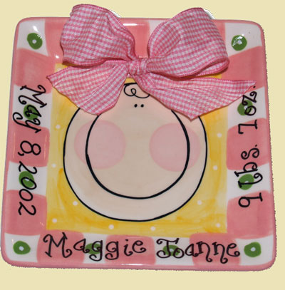 Personalized Baby Girl Tile LARGE