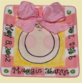 Personalized Baby Girl Tile THUMBNAIL