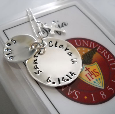 Sterling Silver Personalized Graduation Pendant