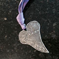 Folk Heart Wall Ornament by Cynthia Webb THUMBNAIL
