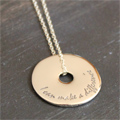 I can make a difference Sterling Touchstone Pendant