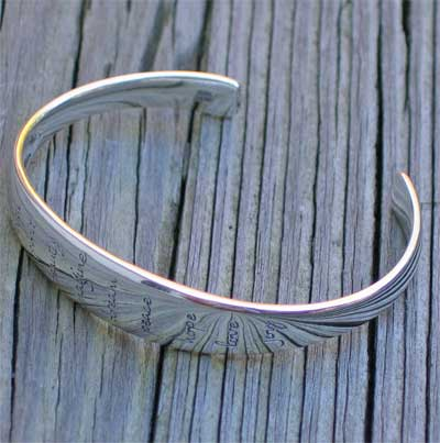 Imagine Sterling Silver Cuff LARGE