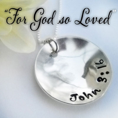 LIFE John 3:16 Sterling Silver Necklace
