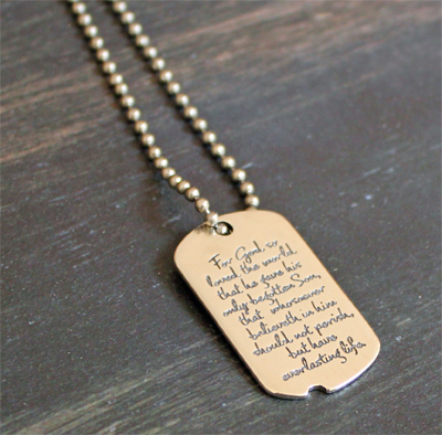 John 3:16 Dog Tag by dvbny