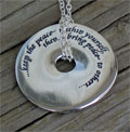 Keep the Peace Touchstone Pendant