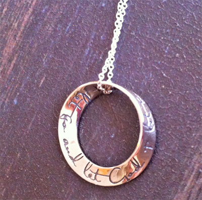 'Let go; Let God' Mobius Necklace LARGE
