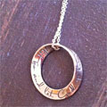 'Let go; Let God' Mobius Necklace THUMBNAIL