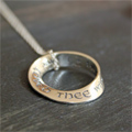 I have loved thee... Jeremiah 31:3 Mobius Necklace SWATCH