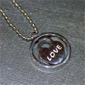 Heart Inside Circle (Spinner) Necklace THUMBNAIL